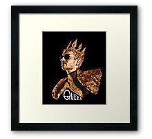 Queen Bill - White Text Framed Print