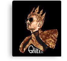 Queen Bill - White Text Canvas Print