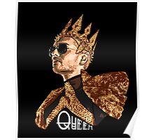 Queen Bill - White Text Poster