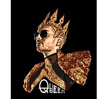 Queen Bill - White Text Photographic Print