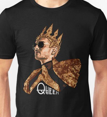 Queen Bill - White Text Unisex T-Shirt