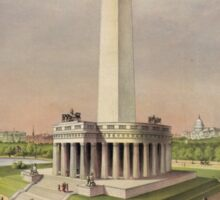The National Washington Monument by Currier & Ives (1885) Sticker