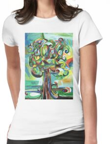 Lyrical Tree Womens Fitted T-Shirt