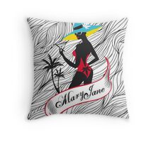 Mary Jane 2 Throw Pillow