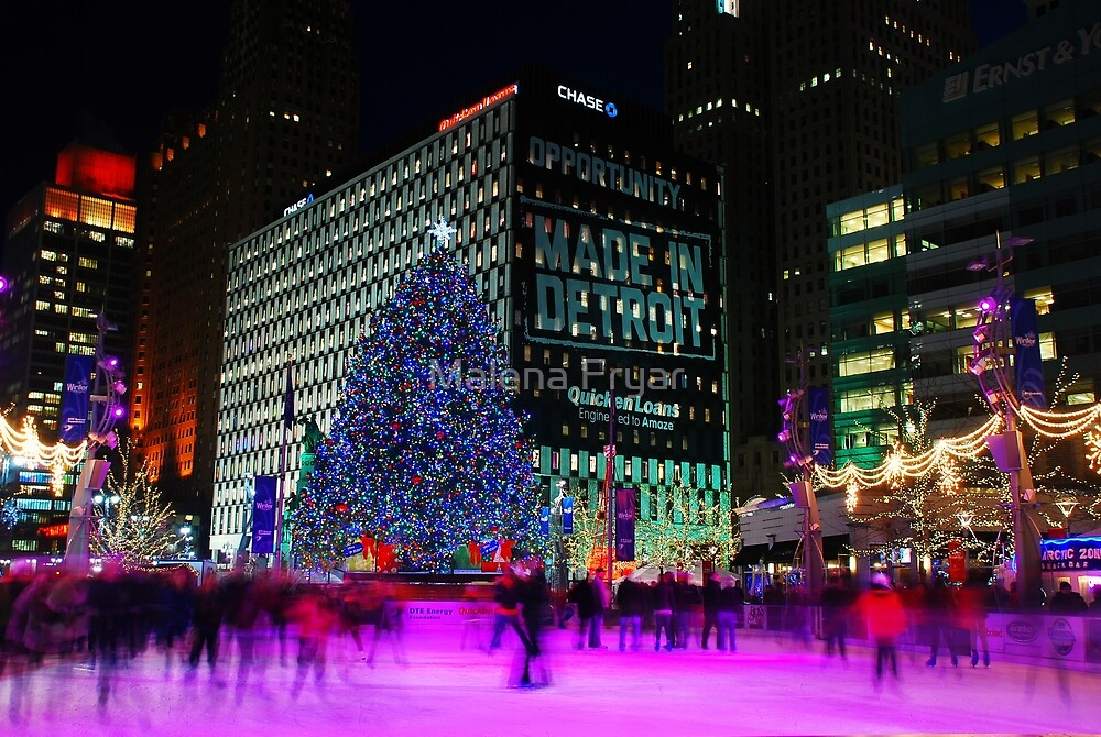 Made In Detroit  -  Campus Martius Park by Malena Fryar