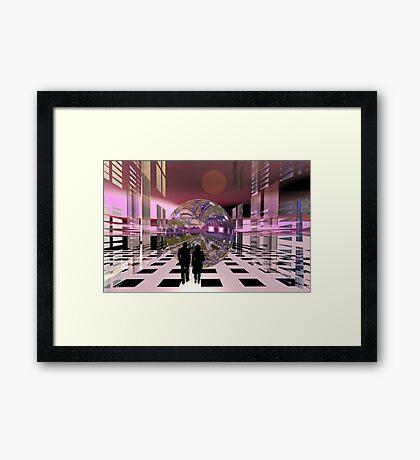 The streets of Alien town Framed Print