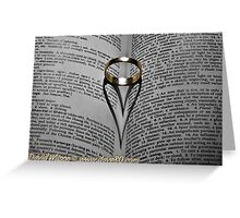 Gold Ring Love Greeting Card