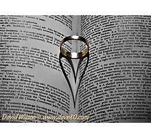Gold Ring Love Photographic Print