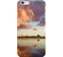 Reflecting on Yachts and Clouds - Lake Ontario Impressions iPhone Case/Skin