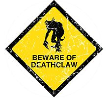 BEWARE OF DEATHCLAW Photographic Print