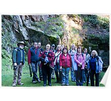 Tassie Redbubblers at Lilydale Falls Tasmania Poster