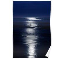 Moonlight Surfer Poster