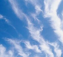 BLUE SKY, CLOUDS, Weather, Climate, Blue Yonder, heaven by TOM HILL - Designer