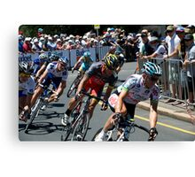 Matthew Lloyd leads Lance Armstrong Canvas Print