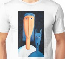 Woman and Cat Unisex T-Shirt