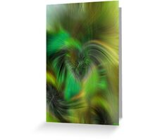 EXOTIC FEATHERING  Greeting Card