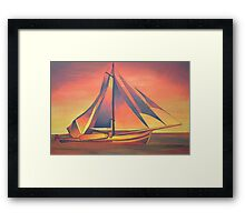 Sienna Sails at Sunset Framed Print