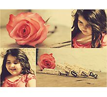 she is my rose Photographic Print