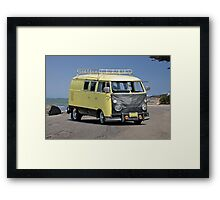 1967 VW Bus 'Vans a Rock'n' I Framed Print