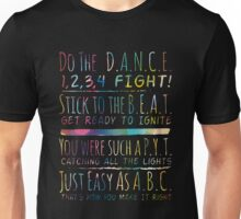 DANCE lyric Unisex T-Shirt