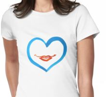 HEART smile Womens Fitted T-Shirt