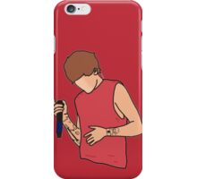 Louis Tomlinson Microphone Cartoon (Red) iPhone Case/Skin
