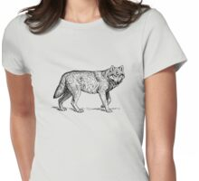 Hipster Wolf Womens Fitted T-Shirt