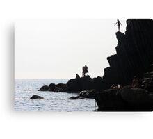The Dare - Riomaggiore, Cinque Terre, Italy Canvas Print