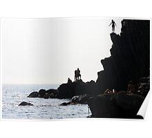 The Dare - Riomaggiore, Cinque Terre, Italy Poster