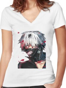 Tokyo Ghoul - Art 1 Women's Fitted V-Neck T-Shirt