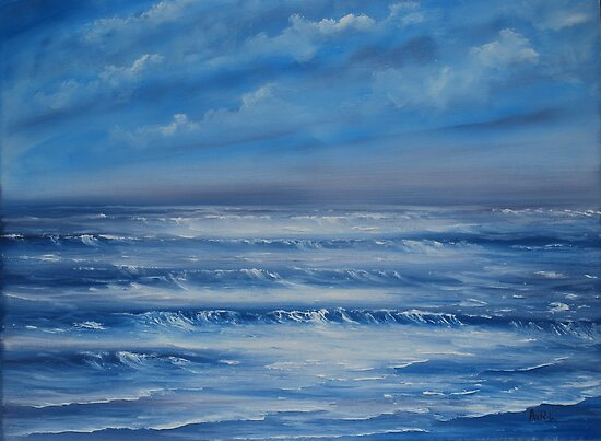 Restless Sea - oil painting by Avril Brand