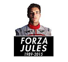 Forza Jules 1989 - 2015 (Jules Bianchi) Photographic Print