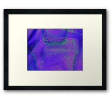 Reptile Hypnosis Leather  Framed Print