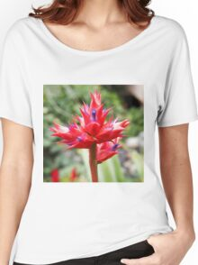 Red Tropical Plant Women's Relaxed Fit T-Shirt