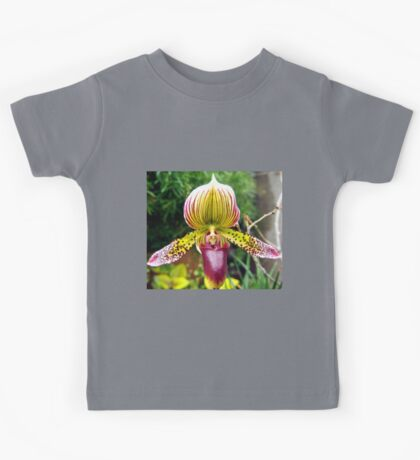 Purple and Yellow Orchid Kids Tee