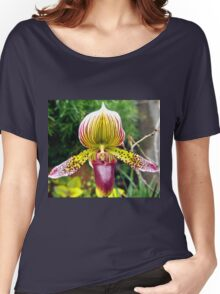 Purple and Yellow Orchid Women's Relaxed Fit T-Shirt
