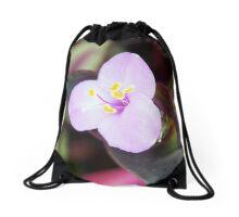 Tiny Purple Flower Bloom Drawstring Bag