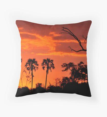 Okavango Sunset Throw Pillow