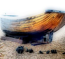 Old Brown Boat by Karen Martin