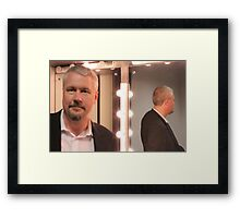 In the green room Framed Print