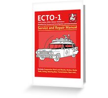 ECTO-1 Service and Repair Manual Greeting Card