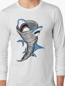 Shark Tornado Long Sleeve T-Shirt