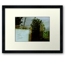 Sentiment from the Past Framed Print