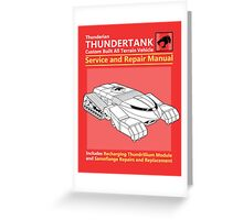 Thundertank Service and Repair Manual Greeting Card