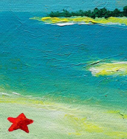 Starfish Beach Sticker