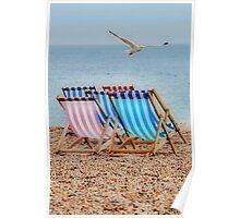 Deckchair Gull Poster