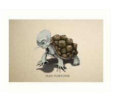 Man Tortoise Art Print