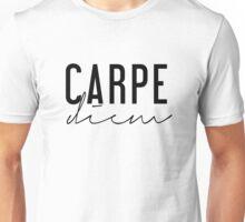 Carpe Diem - Seize the Day - Black and White Unisex T-Shirt
