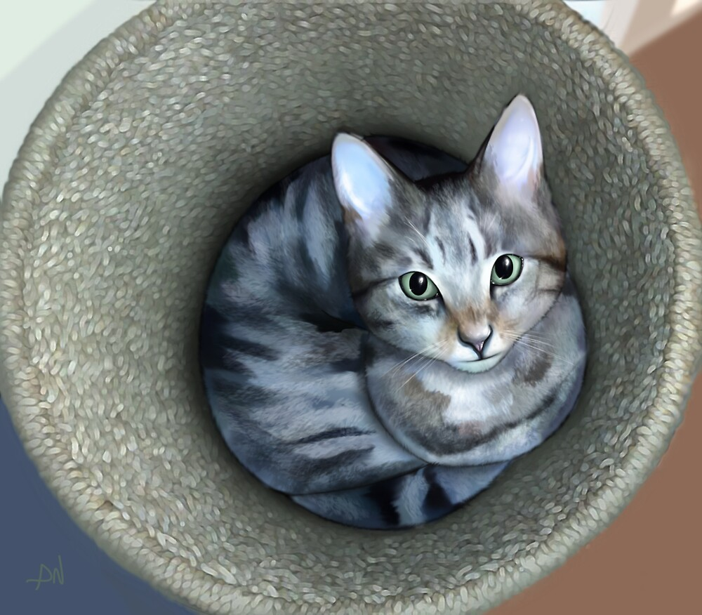 Cat in a Basket by TheSentient