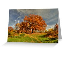 Autumn Picnic On The Hill Greeting Card